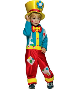 Disfraz de payaso alegre para niño