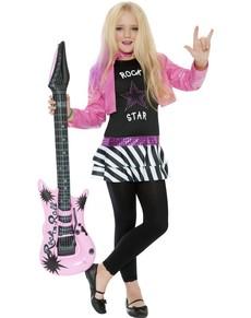 disfraz de glamurosa estrella de rock para nia