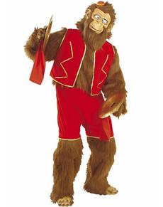 Disfraz de mono con platillos para adulto