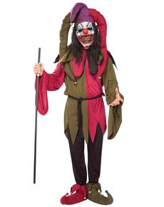 Disfraz de bufón asesino deluxe para hombre