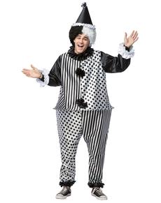 Disfraz de arlequín bromista y gordo para adulto