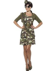 Für Damen Sexy Militär ClassicDie Lustigsten Kostüm CBWrdxoe