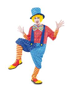 Disfraz de payaso de circo simpático para hombre