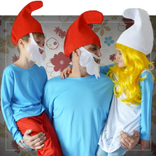 De Smurfen kostuums