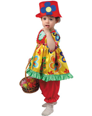 Dräkt liten clown till baby flicka