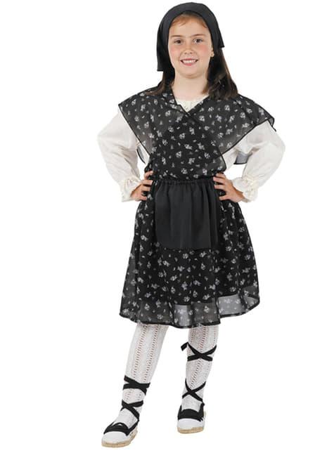 Dívčí kostým prodavačka pražených kaštanů