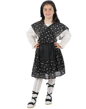 Costum de vânzătoare de castane fată