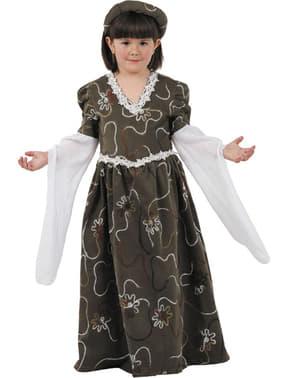 Middeleeuws meisje kostuum