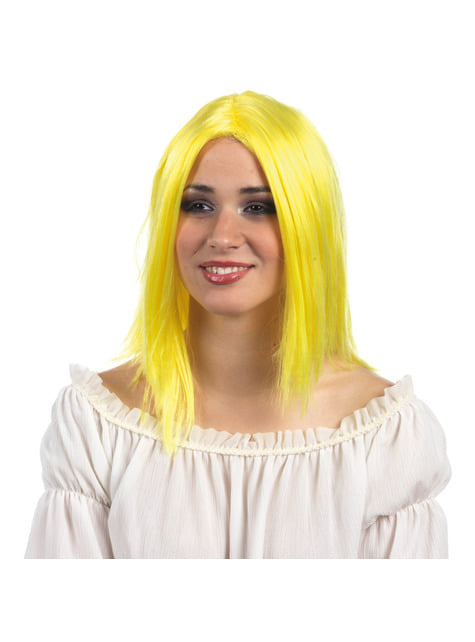 Peruka blond neonowa damska
