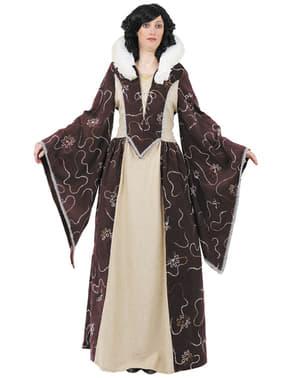 Glamourøst middelalderligt dronningekostume
