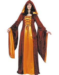 Disfraz de dama de la corte medieval
