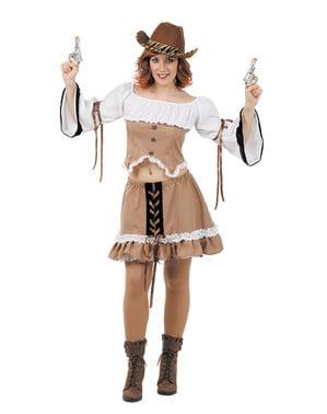 Cowgirl fra det vilde vest kostume