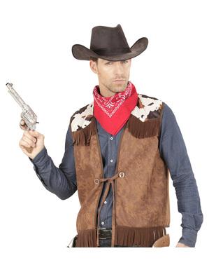 Chaleco de vaquero del oeste para hombre