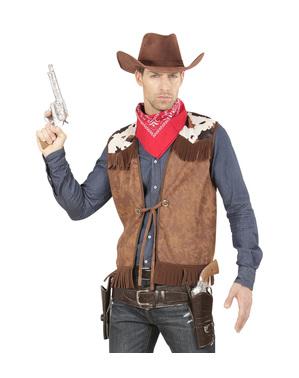 Colete de cowboy do oeste para homem