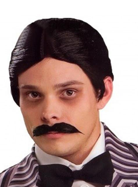 Gomez Addams Pruik en Snor set