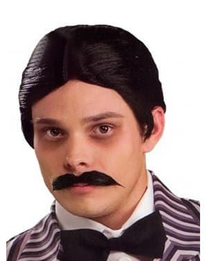 Gomez Addams paryk og skæg