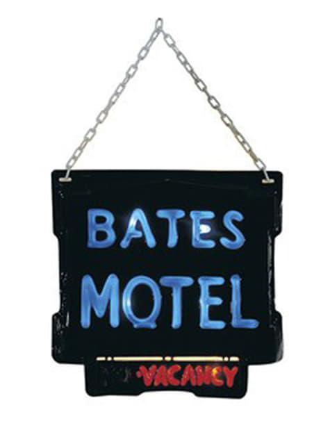 Skylt Motel Bates Psycho