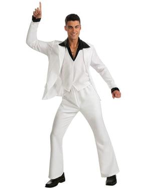 Disco-feber kostume Hvid dragt