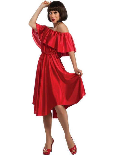 Saturday Night Fever rød kjole kostume