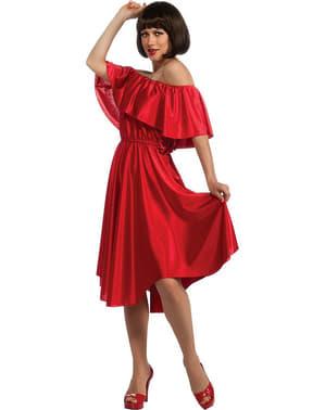Fato de Febre de Sábado à Noite vestido vermelho