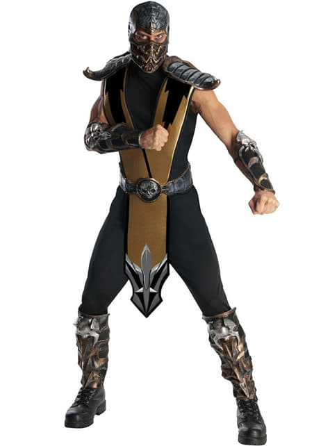 Deluxe Mortal Kombat Scorpion felnőtt jelmez