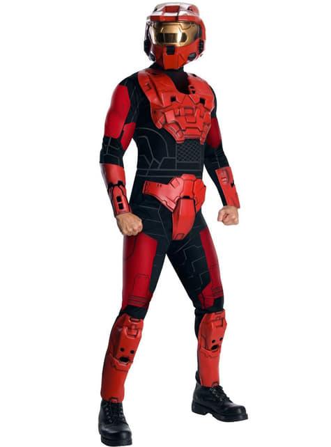 Fato de Red Spartan Halo Deluxe