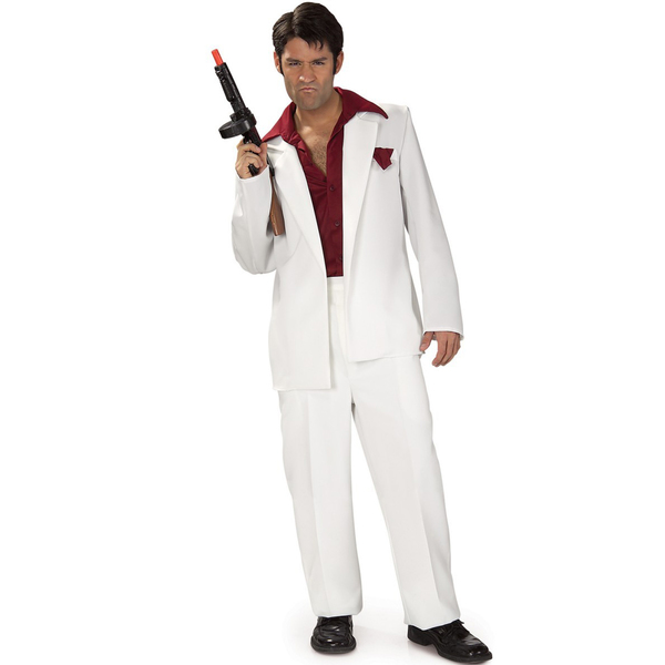 See costume card: Tony Montana Scarface Adult Costume. Category Fancy