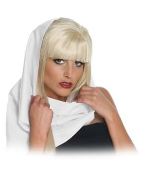 Pañuelo de cabeza blanco Lady Gaga