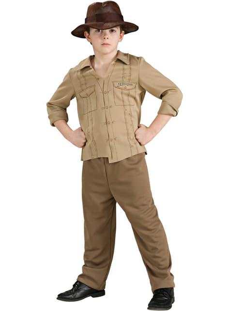 Fato de Indiana Jones aventureiro para menino