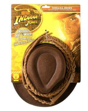 Indiana Jones hat og pisk til børn