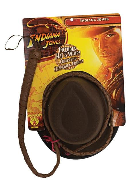 Kit cappello e frusta Indiana Jones adulto