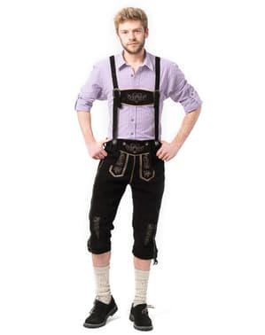 Lederhose bavarez pentru bărbat