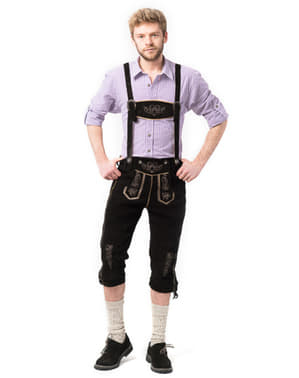 מכנסי עור בוואריה לגברים