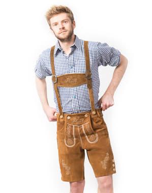 מכנסי עור טירולי לגברים