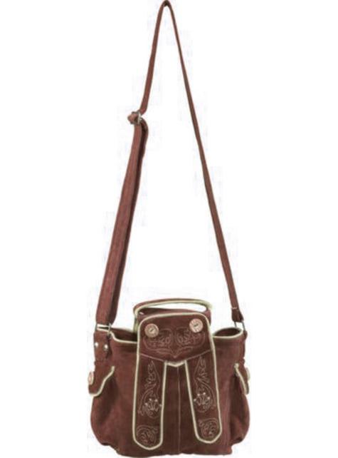 Bolso tirolés marrón para mujer