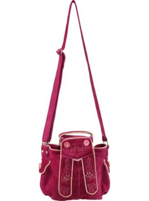 Bolso tirolés rosa para mujer