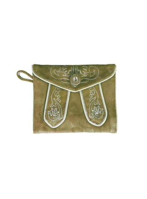 Bolsa de mão tirolesa castanha