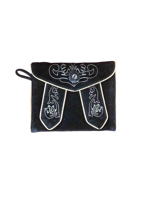 Bolso tirolés de mano negro
