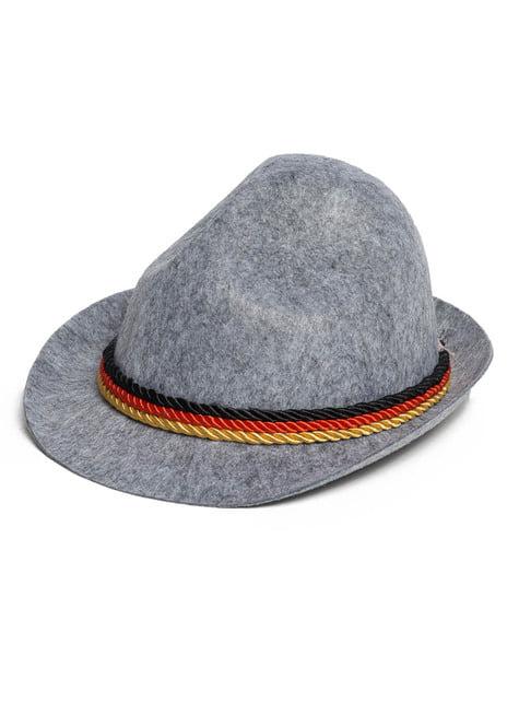 Autentický Oktoberfest klobouk pro dospělé šedý