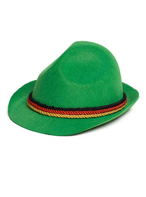 Autentický Oktoberfest klobouk pro dospělé zelený