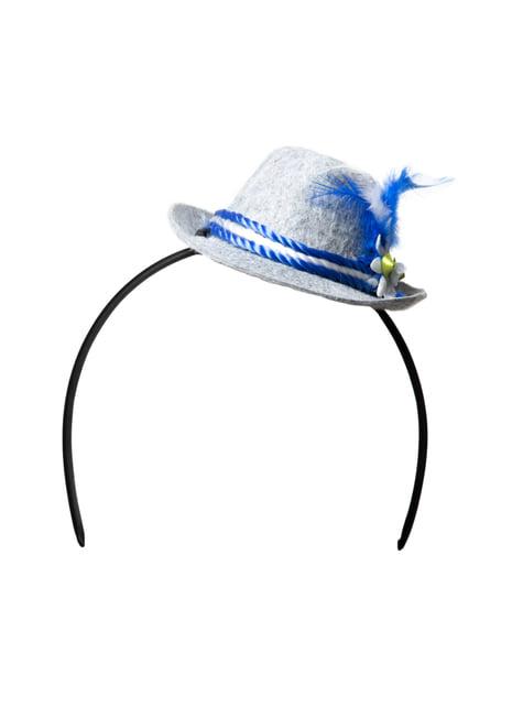 Diademă pălărie tiroleză pentru femeie