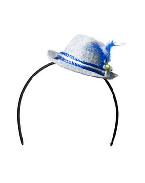 Diadeem tiroler hoedje voor vrouw