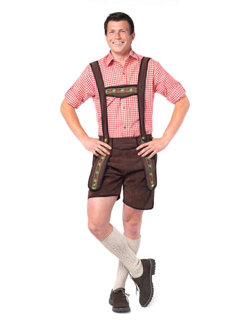 Costum tirolez maro închis pentru Oktoberfest