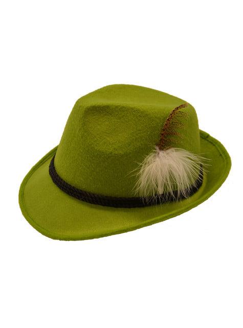 Bavorský klobouk pro dospělé zelený