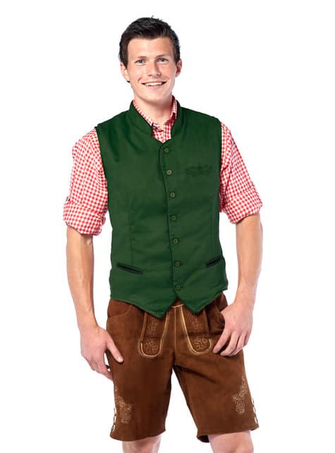 Vestă tiroleză verde pentru bărbat