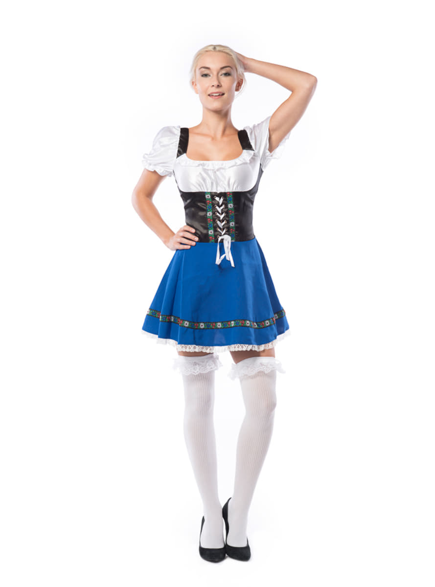 womens traditional blue oktoberfest costume  the coolest