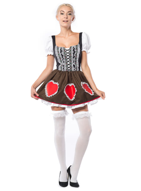 Womens Bavarian heart dress