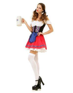 Øl babe dirndl kostume til damer