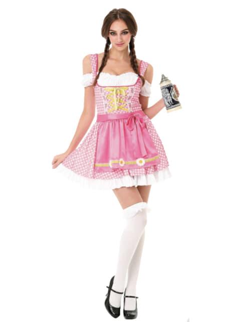 Womens pink polkadot Bavarian costume