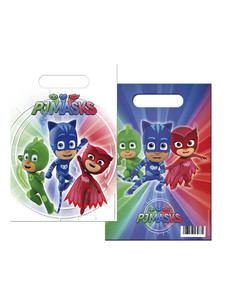 Set de 6 bolsas rectangulares PJ Masks